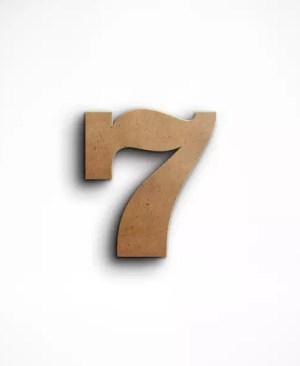 Stojąca cyfra 7