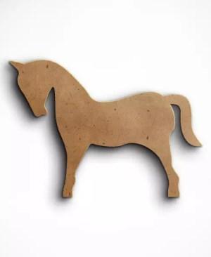 Dekoracyjny koń mdf stojący