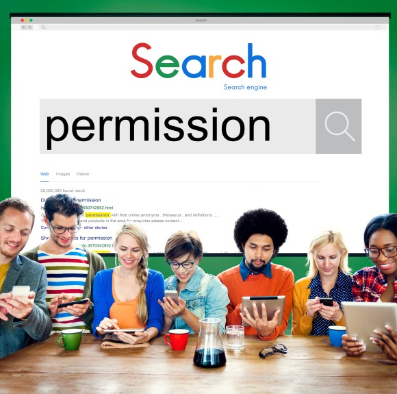 Picture of people searching permission to learn about consent