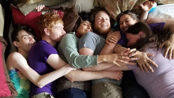 Group cuddle at a cuddle event