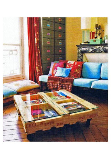 DIY shipping pallet furniture: coffee table