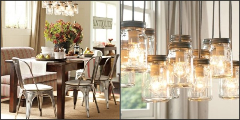 Pottery Barn mason jar chandelier