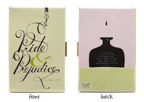 kate spade pride and prejudice book clutch