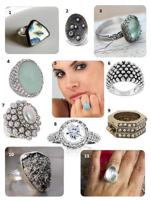 glittery rings