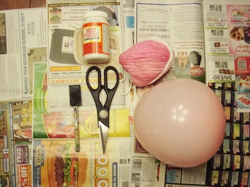 DIY yarn ball supplies