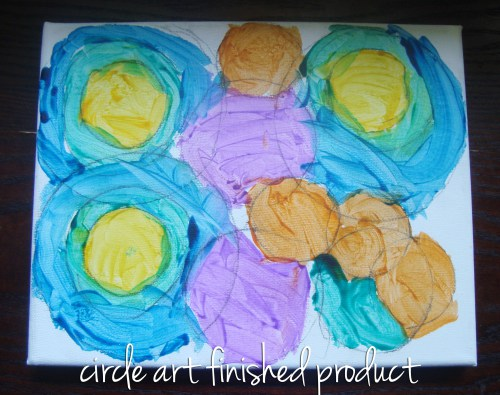 kids boredom buster jar: circle art