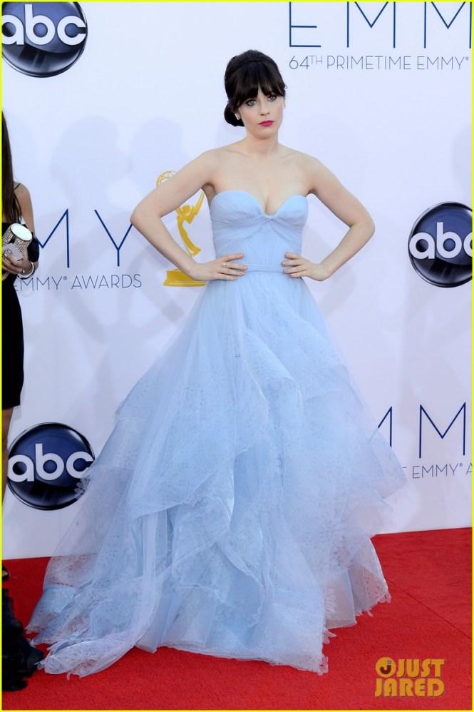 Zooey Deschanel 2012 Emmy fashion