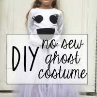 DIY Ghost Costume with No-Sew Tutu