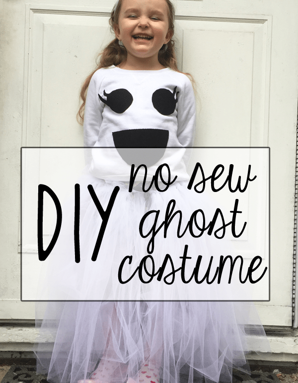 DIY no sew ghost costume