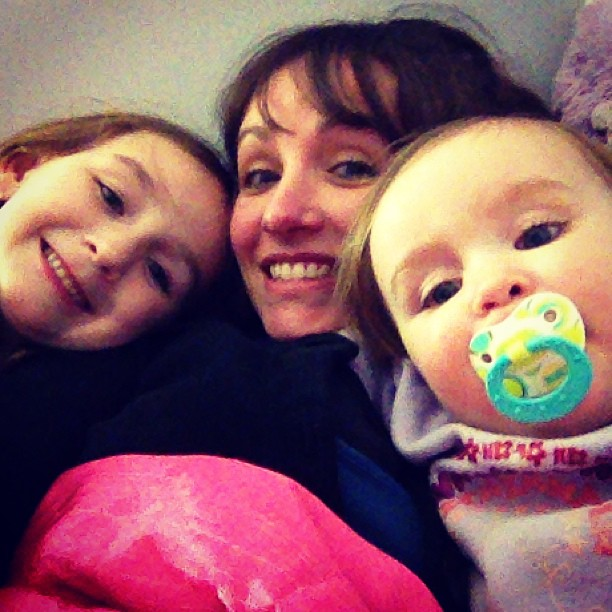 sister sleepover instagram shot