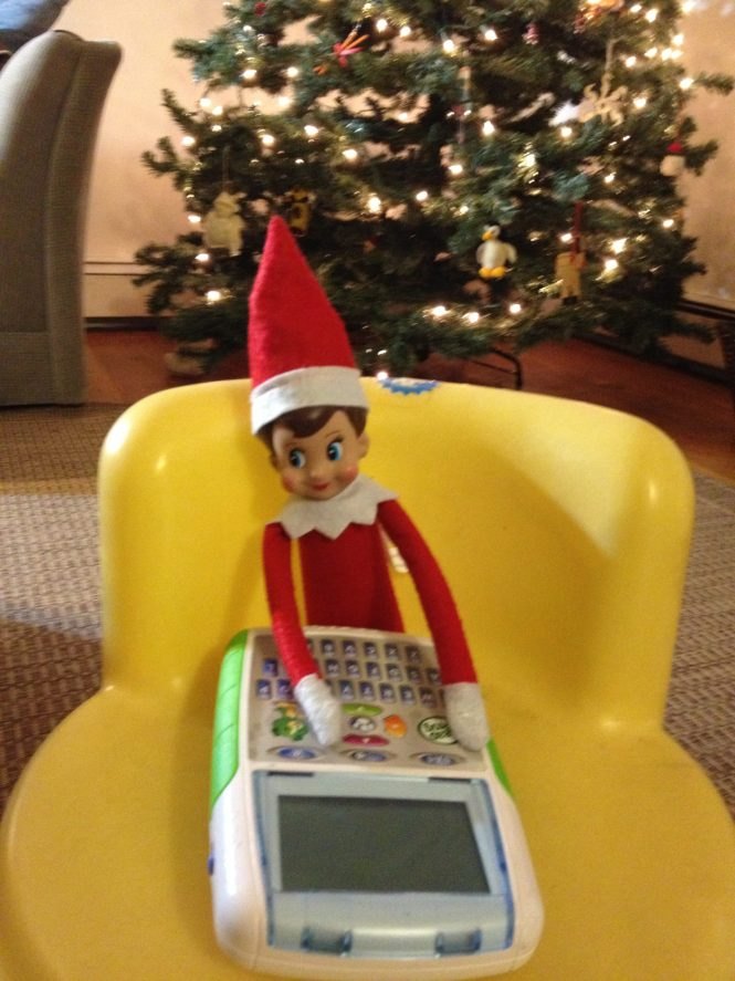 tech savvy elf on the shelf