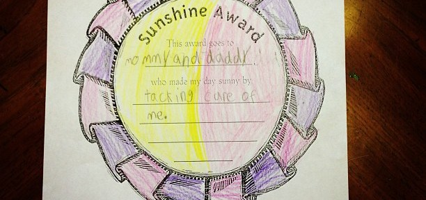 mom diary: sunshine award