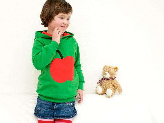 internhat kid's apple hoodie