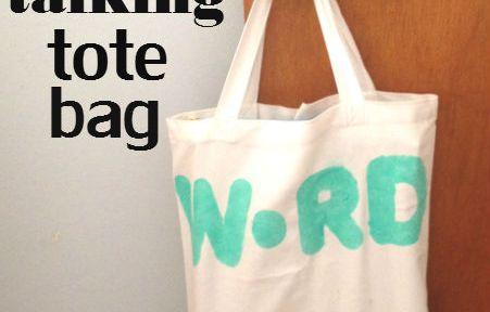 DIY talking tote bag