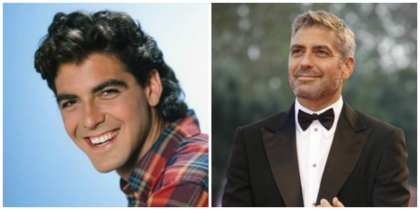 George Clooney: then and now
