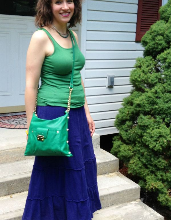 better together: maxi, cotton top, crossbody bag