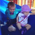 cousins on the playground