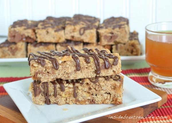 apple recipes: caramel apple granola bars