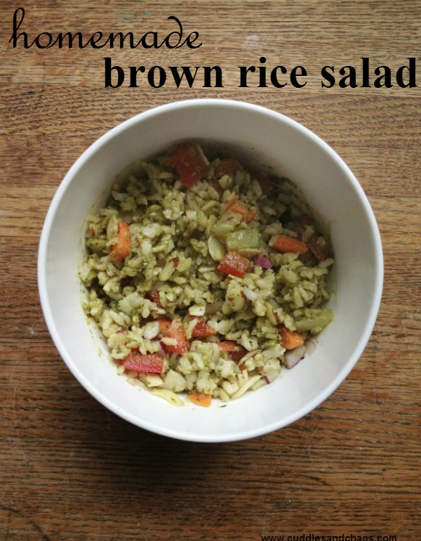 simple brown rice salad