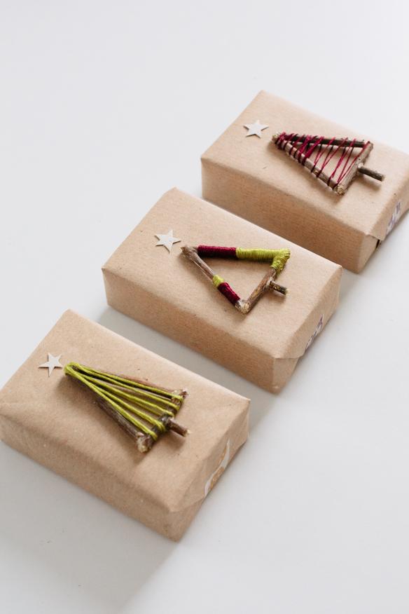 Gift wrap inspiration: DIY trees