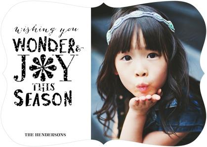 tiny prints holiday cards: wonder and joy