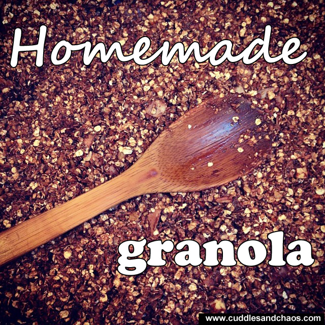 Cuddles and Chaos | homemade granola recipe