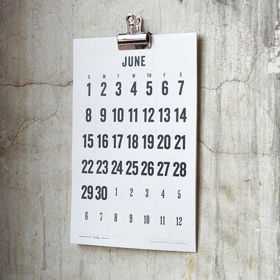 Etsy Finds: Decoylab wall calendar