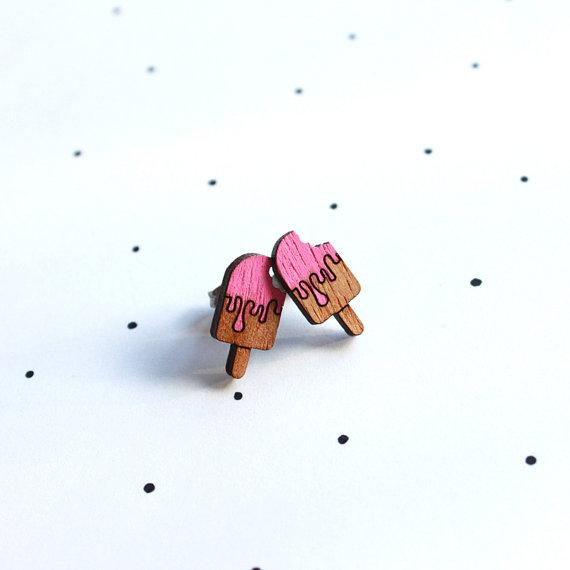 So Little Time Co Wooden Laser Cut Icypole Earrings