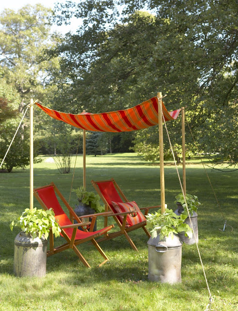 outdoor living inspiration: diy canopy