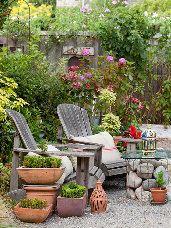 outdoor living inspiration: diy rock table
