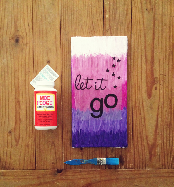 DIY Frozen image transfer wall art: Let It Go