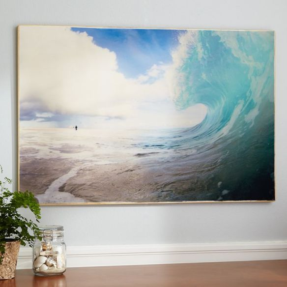 living in PB Teen: wave curl wall art