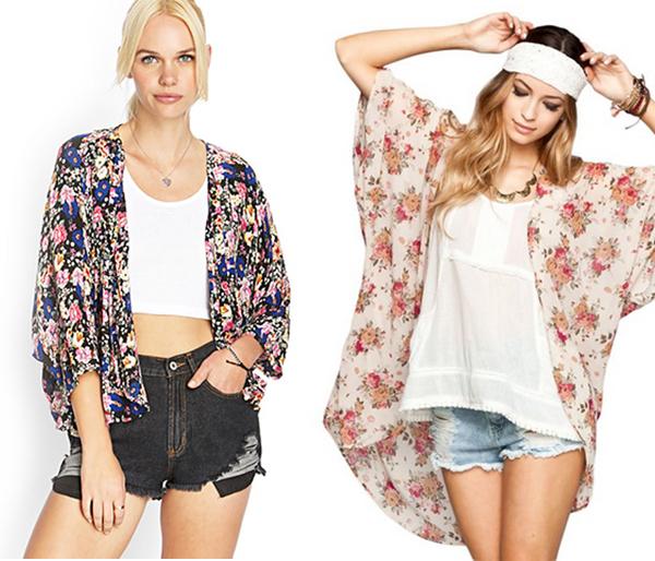 kimonos: Forever 21 and Full Tilt