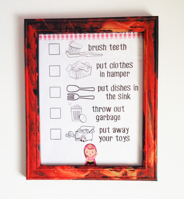 How to Get Your Kids to Clean: chore chart