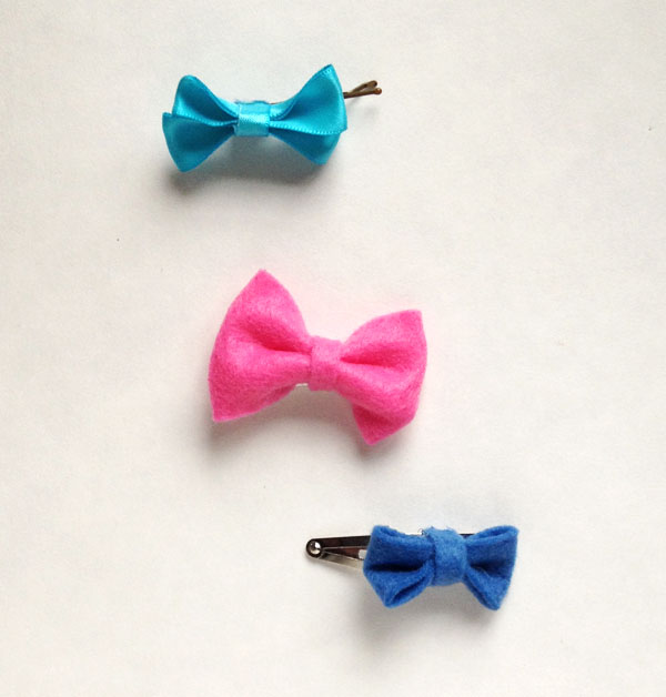 DIY hair bow clips