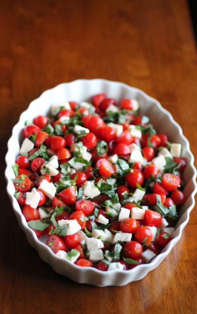Italian caprese chopped salad via Baked in the South