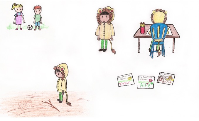 Behind the Scenes of children's book | creation Lion boy character design step 2