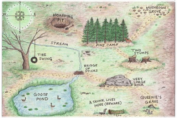 Behind the Scenes of children's book creation | Map of Pine Camp