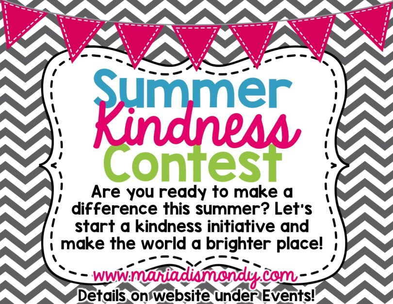 Maria Dismondy Summer Kindness Contest