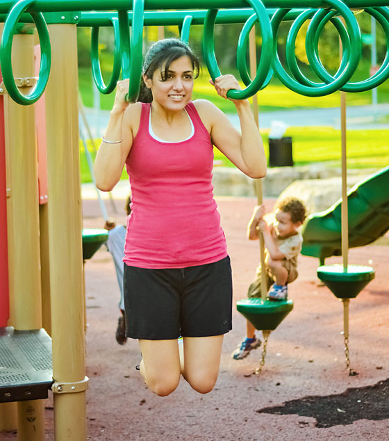 Playground Workouts: pull ups via Daily Mom