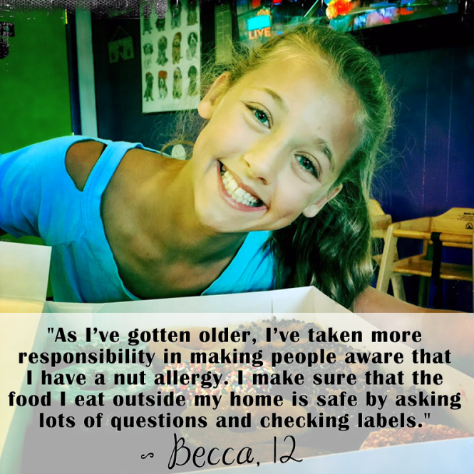 Food allergies according to kids: Becca 12