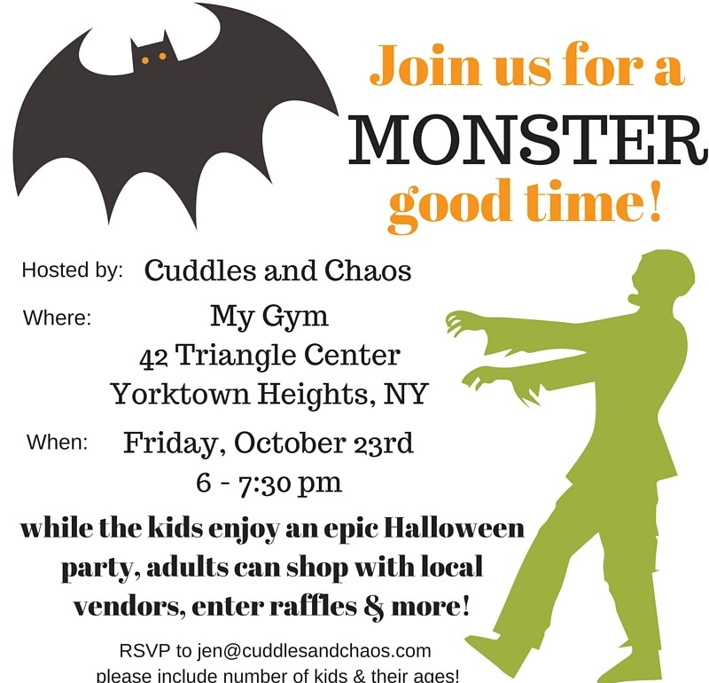 My Gym Halloween party hosted by Cuddles and Chaos