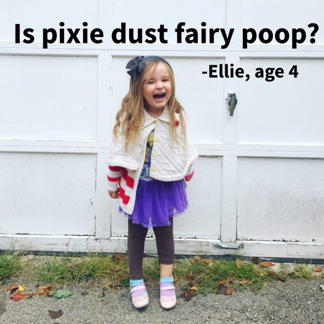 things my kids said | is pixie dust fairy poop #kidsarefunny