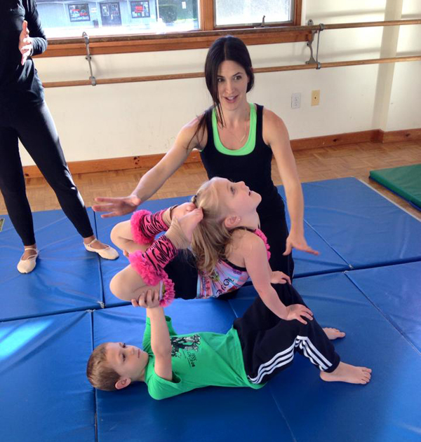Pajama Program open mat fundraiser | mini acro stars