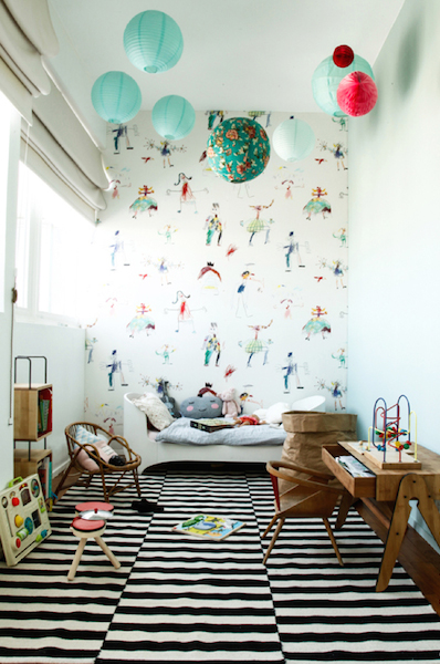 kids decor for grown ups | mixed prints