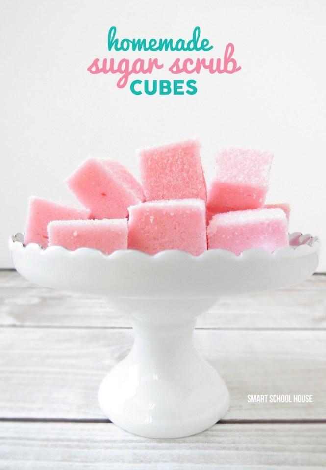 DIY bath and body gifts | sugar scrub cubes