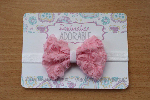 Hudson Valley gift guide | Destination Adorable shabby rose bow headband