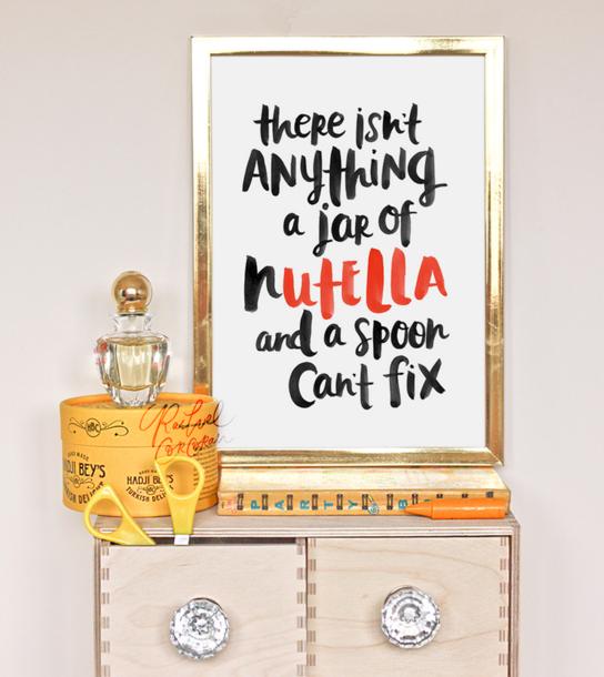 Whimsical Wall Art | Rachel Corcoran Nutella print