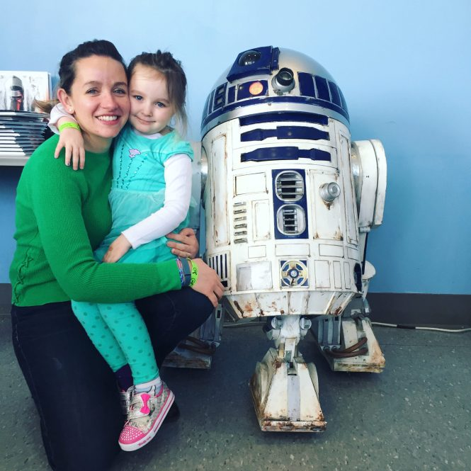 Liberty Science Center | meeting R2D2 at Science, Sabers and Star Wars