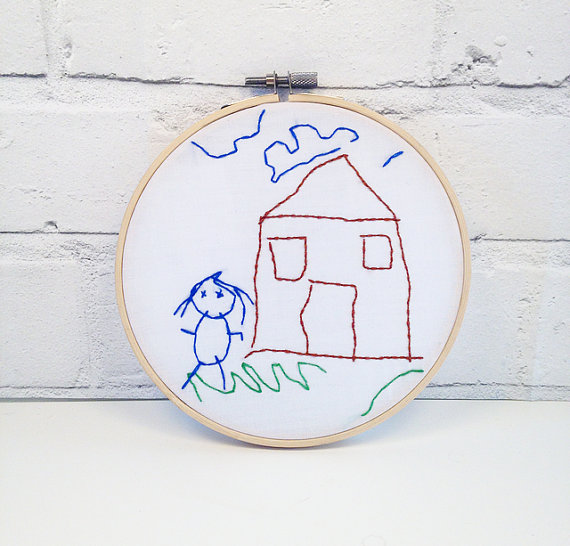 great gifts for moms | Little Home of Hoops art embroidery